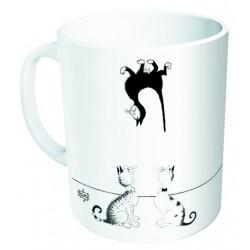 Mug - Un chat au plafond