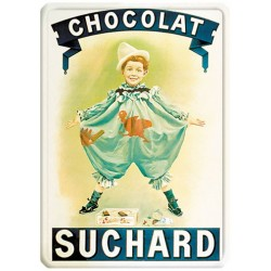 Plaque métal - Pierrot - Chocolat Suchard