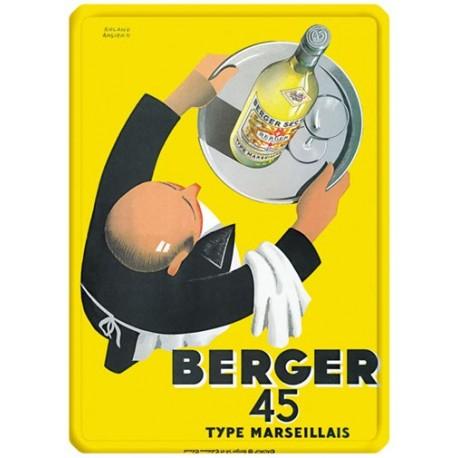 Plaque métal - Serveur - Berger 45