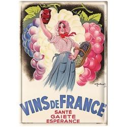 Plaque métal - Viticultrice - Vins de France