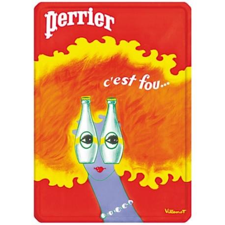 Plaque métal - Rousse - Perrier