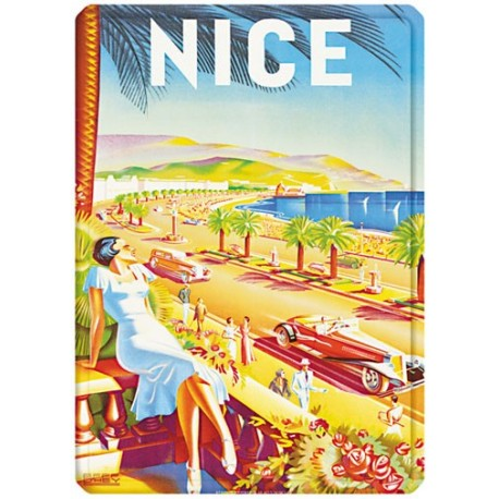 Plaque métal - Nice - La Promenade des Anglais - PLM