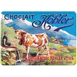 Plaque métal 15x21 - Vache Choclait (fin de série)