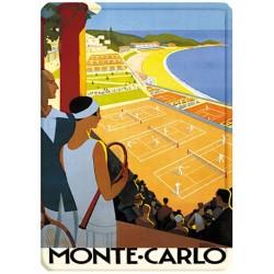 Plaque métal 15x21 - Monte-Carlo - Courts de tennis