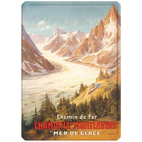 Plaque métal - Chamonix - La Mer de Glace - PLM