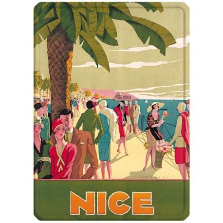 Plaque métal - Nice - Promenade animée - PLM