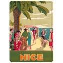 Plaque métal - Nice - Promenade animée