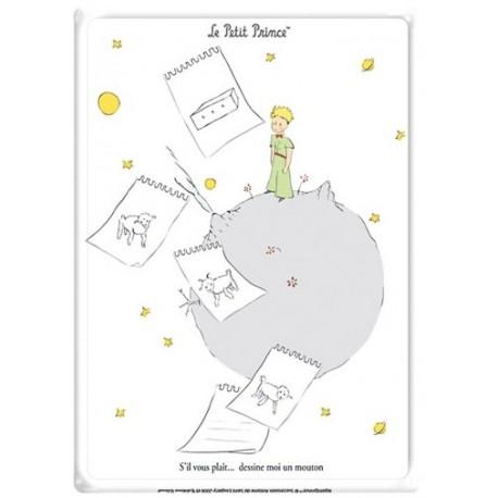 Plaque métal - Le mouton - Le Petit Prince