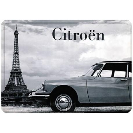 Plaque métal - DS Tour Eiffel - Citroen