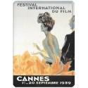 Plaque métal 15x21 - Festival de Cannes de 1939 (fin de série)