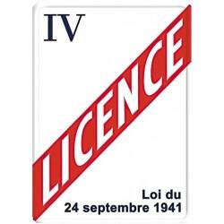 Plaque métal - Licence IV