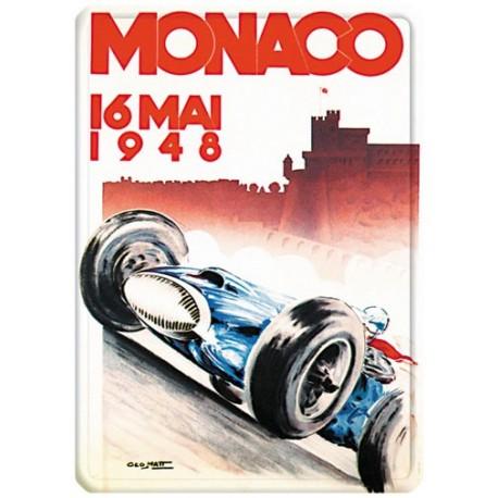 Plaque métal - Grand Prix de Monaco de 1948 - Ville de Monaco