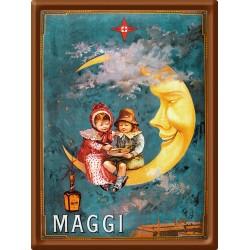 Plaque métal - Lune - Maggi