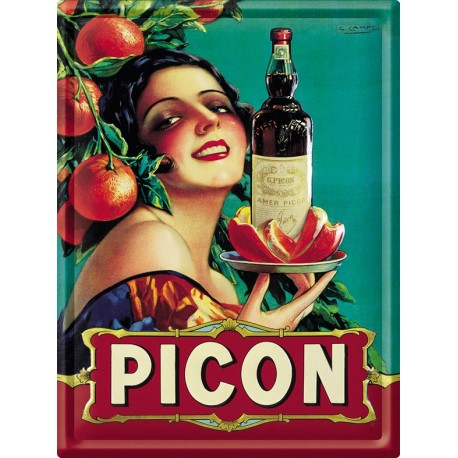 Plaque métal - Apéritif Picon - Picon