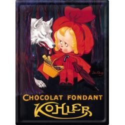 Plaque métal - Chaperon rouge Chocolat - Kohler