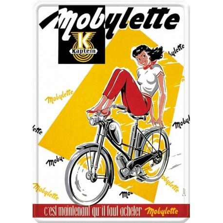 Plaque métal - Mobylette (fin de série) - Mobylette Kaptein