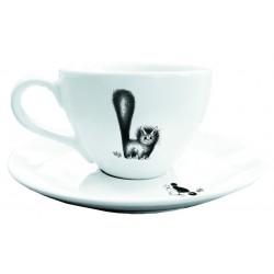 Tasse et soucoupe - Chat mignon