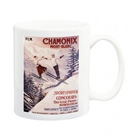 Mug - Les deux sauteurs - Chamonix - PLM