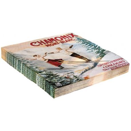 Serviettes - Les deux sauteurs - Chamonix - PLM
