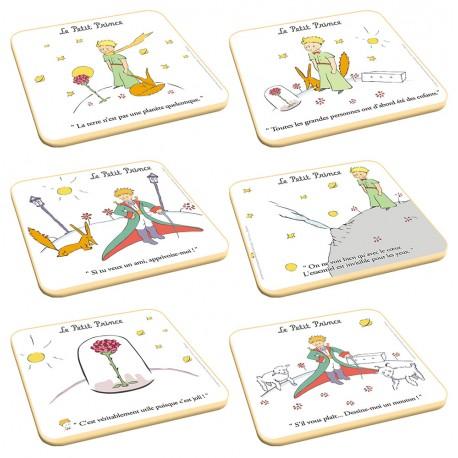 6 dessous de verre - Citations - Le Petit Prince