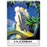 Plaque métal - Village de Corte en Corse - PLM