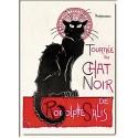 Plaque métal 15x21 - Tournée du Chat noir