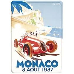 Plaque métal 15x21 - Grand Prix de Monaco de 1937