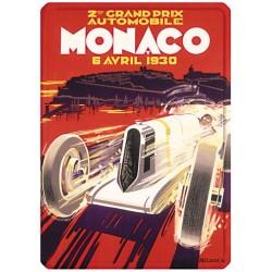 Plaque métal 15x21 - Grand Prix de Monaco de 1930
