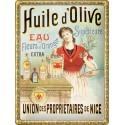Plaque métal 30x40 - Huile d'Olive de Nice
