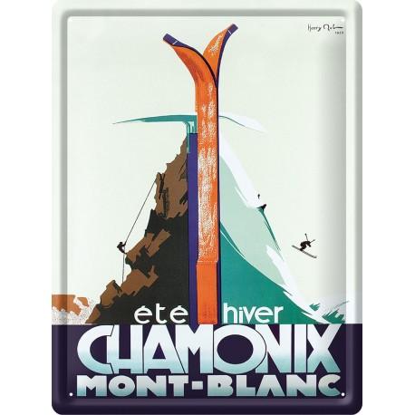 Plaque métal - Chamonix - Eté hiver - PLM