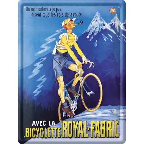 Plaque métal - Bicyclette - Bicyclette Royal-Fabric
