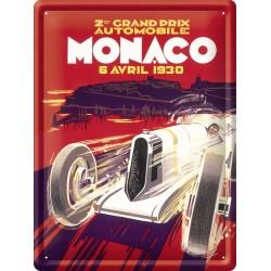 Plaque métal - Grand Prix de Monaco de 1930 - Ville de Monaco