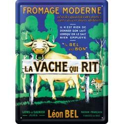 Plaque métal - Fromage moderne - Vache qui rit