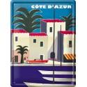 Plaque métal 30x40 - Côte d'Azur - Port (fin de série)