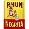 Plaque métal - Serveuse - Rhum Negrita