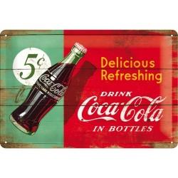 Plaque métal 3D 20x30 - Drink Coca-Cola