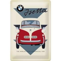 Plaque métal 3D 20x30 - Isetta