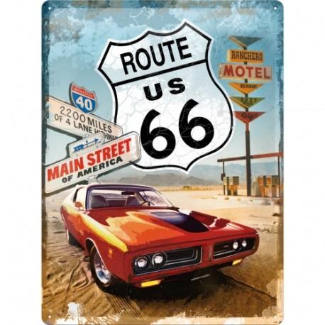 Plaque métal 3D 30x40 - Main street