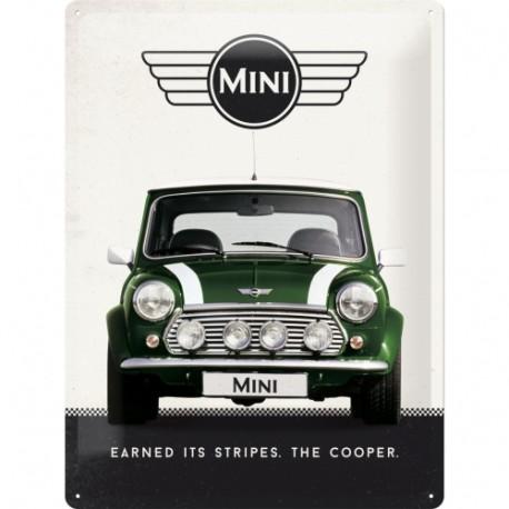 Plaque métal 3D 30x40 - Mini Cooper