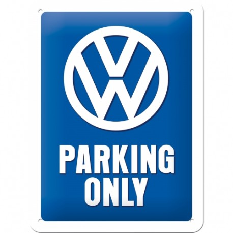 Plaque métal 3D 15x20 - Parking Only 3
