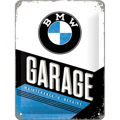 Plaque métal 3D 15x20 - Garage