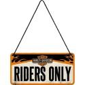 Plaque à suspendre - Riders Only