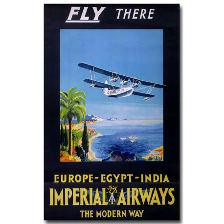 Affiche - Avion (fin de série) - Impérial Airways