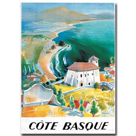 Affiche - La côte basque (fin de série) - SNCF