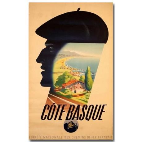 Affiche - Côte Basque (fin de série) - SNCF