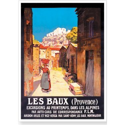 Affiche - Les Baux de Provence La rue (rupture définitive)