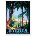 Affiche - Hyères - Les palmiers