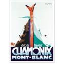 Affiche - Chamonix - Eté hiver
