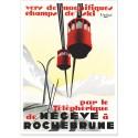 Affiche - Le téléphérique de Megève