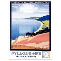 Affiche - La Dune du Pilat - Compagnie PO-Midi